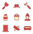 Icons Style Icons set carpentry vector image