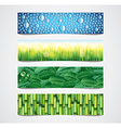 banners nature vector image