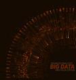 Big data circular orange vector image