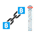 bitcoin blockchain icon with bonus symbols vector image