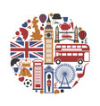 england uk travel sightseeing icons and vector image