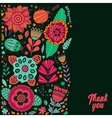 flowers and leaf doodle elements vector image