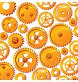 mechanical wheels background vector image