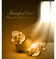 Monochrome sepia romantic background with vase and vector image