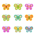 Retro Butterflies vector image