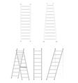 Set ladders vector image