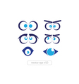 Set of cartoon funny eyes vector image