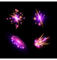 Transparent sparkling light effects and flares vector image