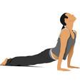 woman gymnastic free callisthenics vector image