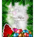Elegant Classic Christmas flyer with tree leaves vector image vector image