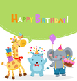 Animal Birthday Card vector image vector image