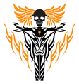 Skull on a motorcycle vector image vector image