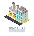 industrial on the roadside vector image