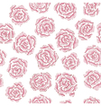 Hand drawn rose pattern vector image vector image