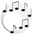 Music elements with flat design vector image