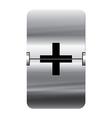 Alphabet silver flipboard letters plus vector image vector image
