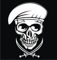 White Army Skulls vector image