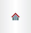 arrow home symbol design icon vector image