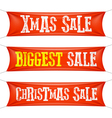 Biggest Christmas sale banners vector image