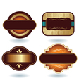 chocolate logo template vector image vector image
