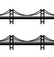 metal cable suspension bridge black symbol vector image