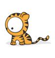 big eyed tiger vector image
