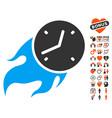 deadline fire icon with lovely bonus vector image