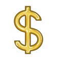 dollar signrealtor single icon in cartoon style vector image