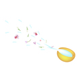 Golden Bowl Splashing Water in Songkran Festival vector image