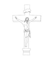 jesus christ in the cross vector image