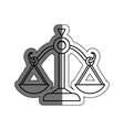 Justice Balance isolated vector image