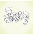 kid cooking vector image