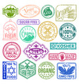 premium quality stamp logo product mark retro vector image