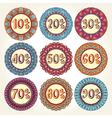 Set of nine sale icons vector image