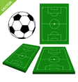 Soccer ball and soccer stadium vector image