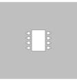 Microchip computer symbol vector image