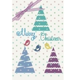Vintage scrap booking template for merry Christmas vector image vector image