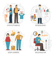 Diabetes 2x2 Design Concept vector image
