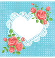 Card with hearts and flowers vector image