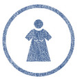 woman figure rounded fabric textured icon vector image