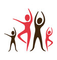 color pictogram of practice of ballet poses vector image
