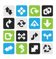 Silhouette different kind of arrows icons vector image vector image