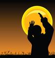 man on the moonlight vector image