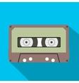 Cassette flat icon vector image