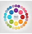 Circle infographic for your design vector image vector image