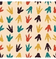 Dinosaur footprints seamless pattern vector image vector image
