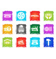 auto service icons vector image