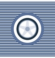 Car wheel color flat icon vector image