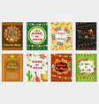 cinco de mayo set greeting card template for vector image
