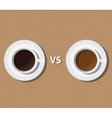 coffee vs versus tea compare health and benefit vector image